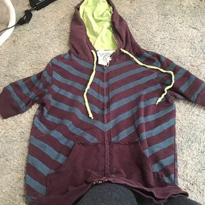 Scrapbook 3/4 sleeve zip up sweater jacket